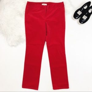 [LOFT] Ann Taylor Red Corduroy Straight Pant 12